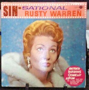 RUSTY-WARREN-Sinsational-Album-Released-1961-Vinyl-Record-Collection-US-pressed