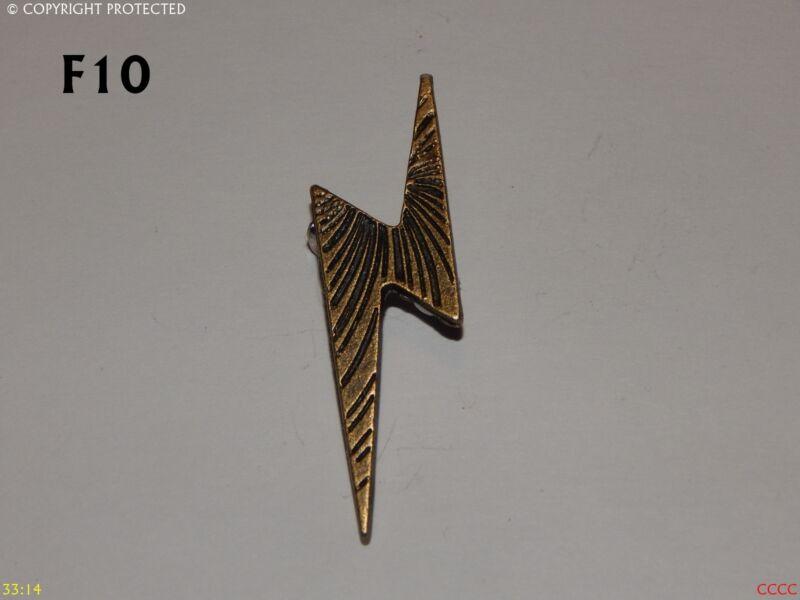 Steampunk Brooch Badge Gothic Left Facing Lightning Bolt Harry Potter Abzeichen