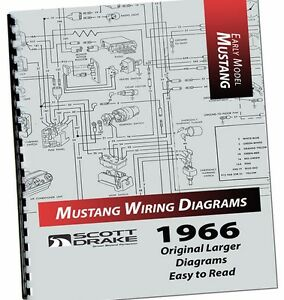 New! 1966 Ford MUSTANG Wire Diagram Manual Larger Easy to Read Print ...