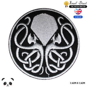 Cthulhu-Lovecraft-Motif-Embroidered-Iron-On-Patch-Sew-On-Badge-For-Clothes-etc