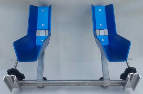 VW T5 T6 Fahrradständer für 2 Räder im Innenraum Radbreite 4,5cm-7,2cm blau