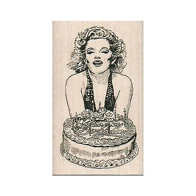 Astounding Mounted Rubber Stamp Marilyn Monroe Happy Birthday Cake Lady Funny Birthday Cards Online Fluifree Goldxyz