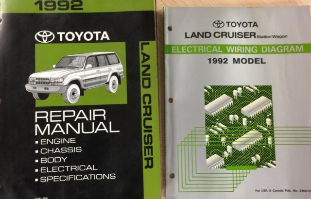 1992 Toyota Land Cruiser Service Shop Repair Workshop