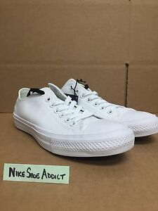 Converse All Star Chuck Taylor CT II 2 OX Low Triple White 150154C ... da134b840