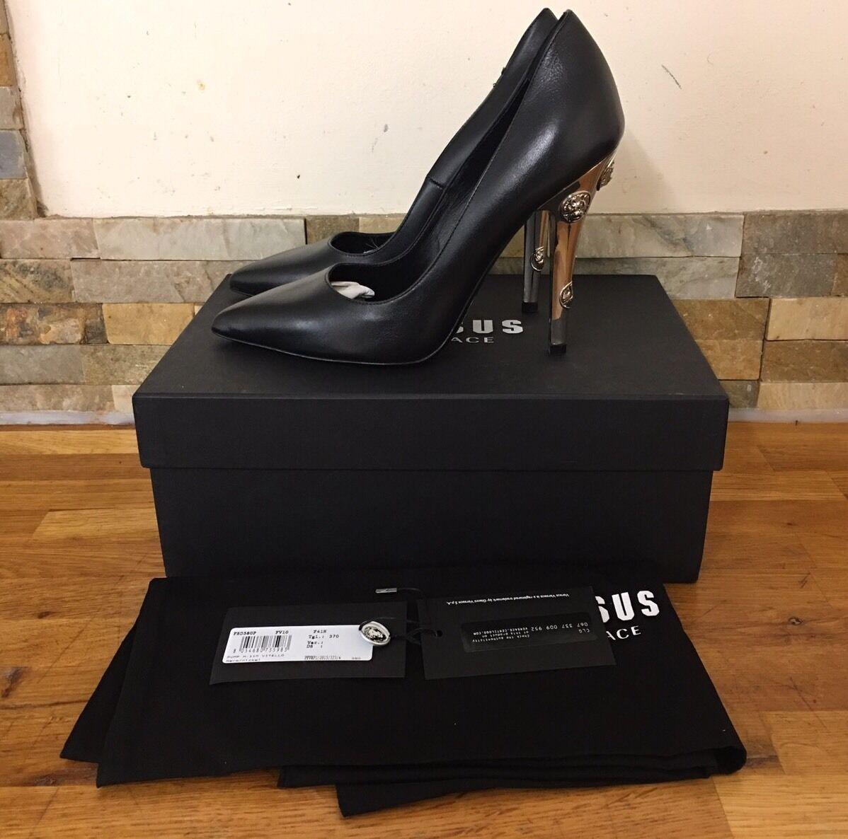 VERSUS VERSACE Black  Embellished Lion Heels Size Size Size UK 5 EU 38 557e54