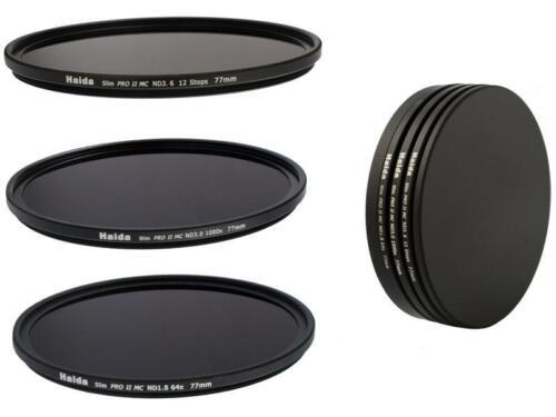 64x 62mm Haida Slim Pro II MC ND extremadamente Filterset 1000x 4000x