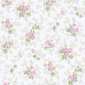 Rasch Tapete Petite Fleur Iii 285023 Blumen Rosen Weiss Rot Grun
