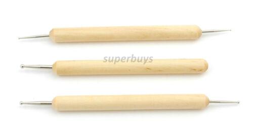 3pc Stnlss Steel Ball Stylus Tool Emboss Dry Embossing Pattern Paper Pen Pencil