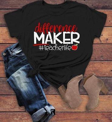 Unisex Teacher Gift preschool teacher shirt Teacher shirts difference maker school teacher tshirt reading teacher shirt daycare teacher