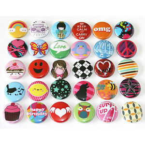 Pop-Fun-Kids-Party-Badges-x-30-Button-Pins-Wholesale-Lot-25mm-One-Inch-1-034