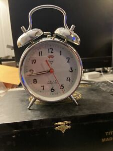 Retro-SHANGHAI-CHINA-Working-Alarm-Clock-Preowned