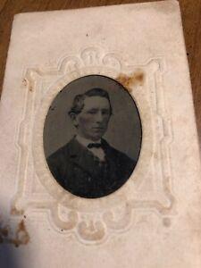 Antique Civil War Era Victorian Man Tintype Tin Type Photo Photograph Vintage
