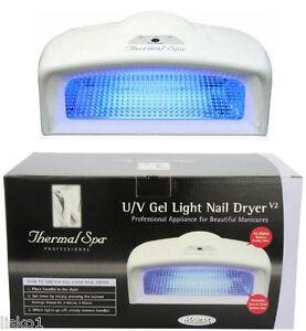 Thermal Spa Uv Gel Light Nail Dryer V2 45 Watts Accommodates two ...