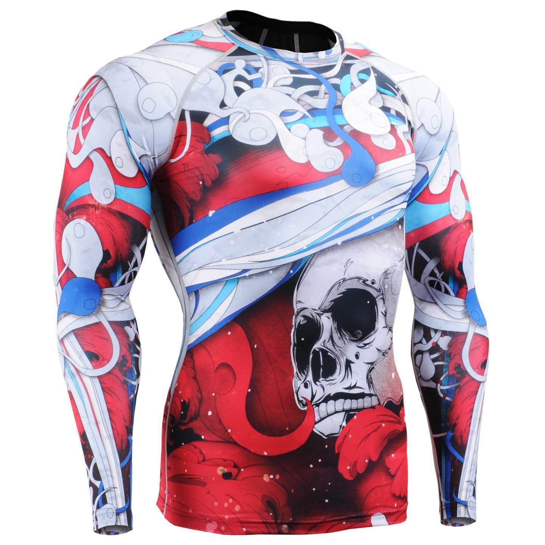 Fixgear cfl-19r compresión capa  base Camisas Bajo Skin Tight Gimnasio Entrenamiento Mma  barato