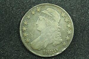 1830 Capped Bust Half Dollar, Small O, O-108 R3, Very Fine