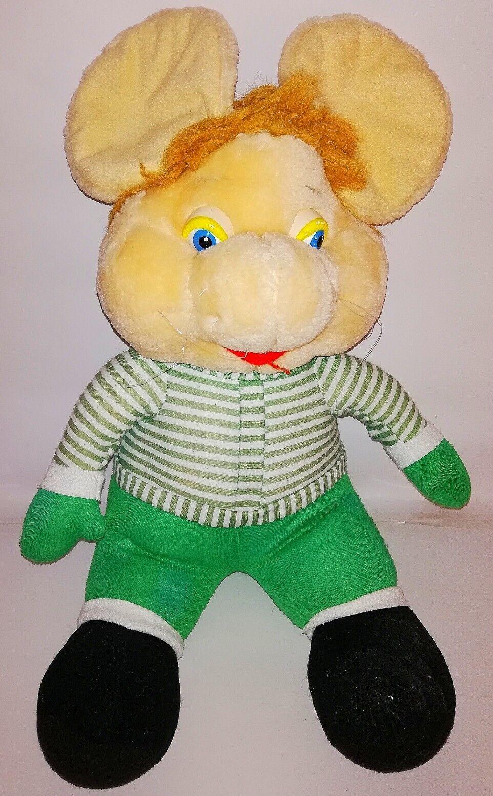 Topo gigio peluche retro 40 cm.Imagen de un juguete suave de terciopelo del ratón