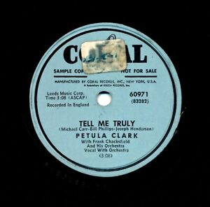 PETULA-CLARK-on-1953-Coral-60971-Promo-Tell-Me-Truly-Song-of-the-Mermaid