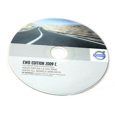details about ewd edition 2009c volvo electronic wiring diagram s40 & v50  2004-2010 cd