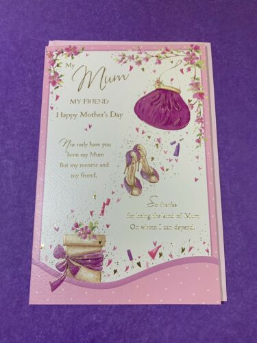Hapoy Mother's Day My Mum My Friend Mother's Day Card