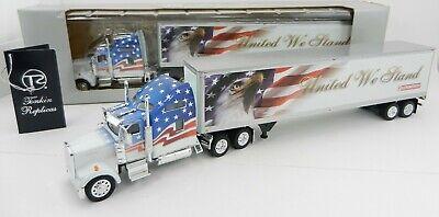 1:53 TONKIN PATRIOTIC *KENWORTH W900L* United We Stand Semi Truck /& Trailer NIB