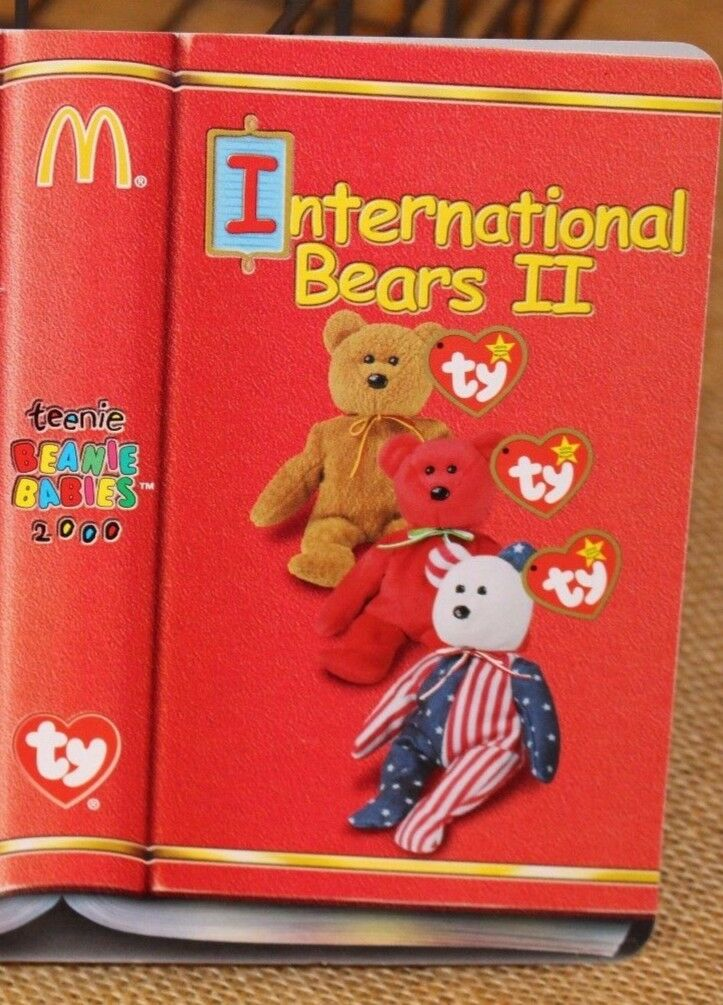 2000 Mint Set of 3 McDonald's TY Teenie BEANIE BABIES  Intl Bears II