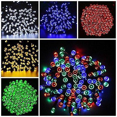 Solar Powered 100 200 LEDs String Fairy Tree Light Outdoor Wedding Party Xmas