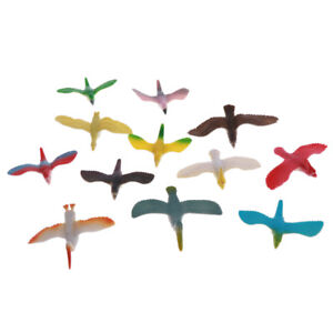 Pack Of 12 Plastic Flying Birds Animal Figures Kids Toys Collectible Gift Ebay