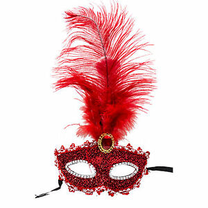 Feather-Masquerade-Ball-Mask-Venetian-Glitter-Fancy-Dress-Eye-Mask