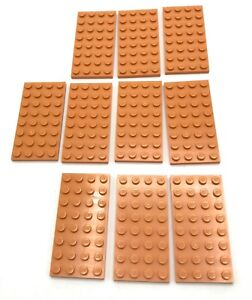 Lego-10-New-Flesh-Plates-4-x-8-Dot-Building-Blocks-Pieces