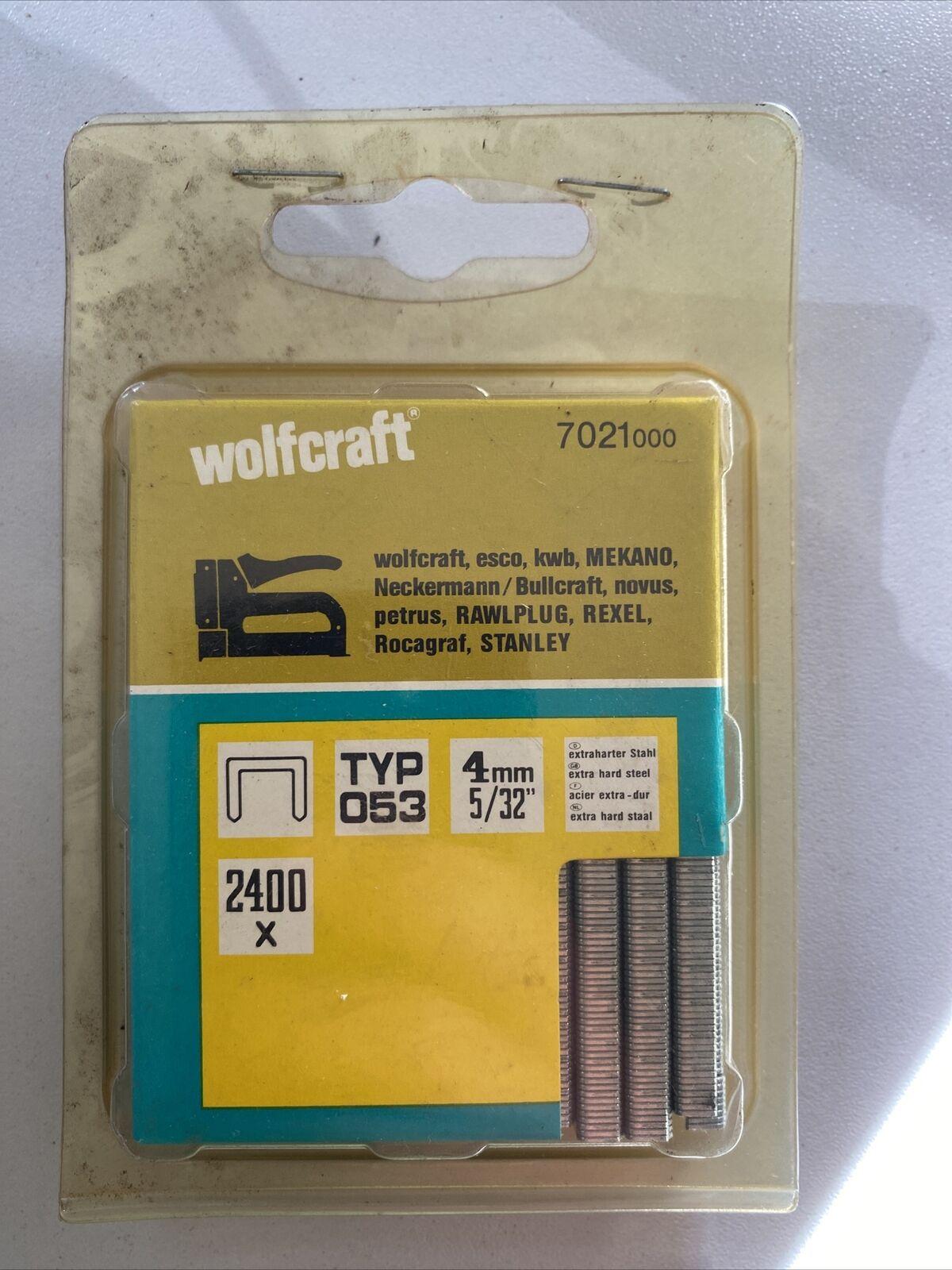 Paréntesis grapas wolfcraft 7021 000 tipo 053 4 mm 2400 unidades