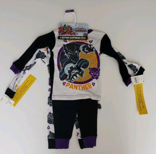Marvel Super Hero Adventures Boy/'s Black Panther 2 Cotton Sleepwear Sets Pajamas