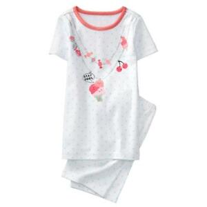 NWT Gymboree Girls Gymmies pajamas Ice Cream Shortie 2T,6,8