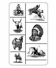 Armour Rub 'n' Etch Glass Etching Stencil Sheet  ~  COWBOYS
