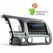 """8"""" HD Android 5.1 Car DVD Stereo GPS Radio for Honda Civic 2006-2010 Bluetooth A"""