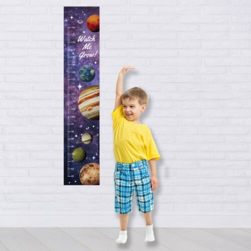 8 Vinyl Wall Sticker Personalised Planets Space Astronomy Height Growth Chart