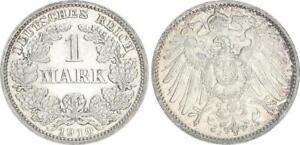 Imperio 1 Marco Moneda de Curso 1910J Fast Recién Acuñado (50563)