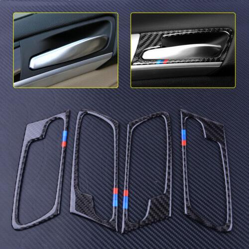 4tlg Kohlefaser Tür Griff Dekore Türgriff Blende Rahmen Für BMW X5 E70 08-13 ly