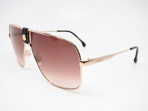 6391eed67365 New Authentic Carrera 1018/S J5GHA Gold w/Brown Gradient Sunglasses ...