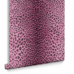 Details About Pink Leopard Skin Effect Wallpaper Wallcovering Clearance At 1799 Or 6 For 95