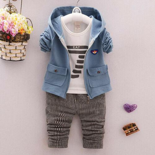 Kleinkind Baby Jungen Outfits Kleidung Kleinkind Kinder Sets Mantel Shirt Hose E