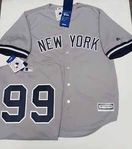 c92c813ebf1 AARON JUDGE YANKEES MENS GREY COOL BASE JERSEY PICK SIZE MAJESTIC