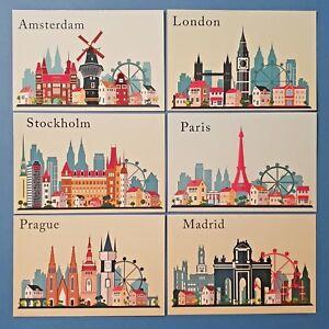 Set-of-6-European-City-Skyline-Ilustrations-Landmarks-Landscape-View-Travel