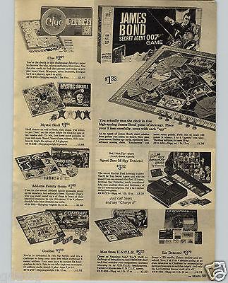 1965 PAPER AD 007 James Bond ISA 07-11 Attache Case Gun Pistol Secret Sam UNCLE