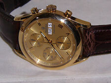 Men's 18K Yellow Gold FESTINA Automatic F650 Chronograph Day Date Watch 77 grams