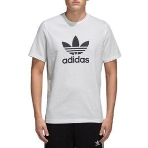Adidas Originals Trefoil T shirt Bianco Abbigliamento Online