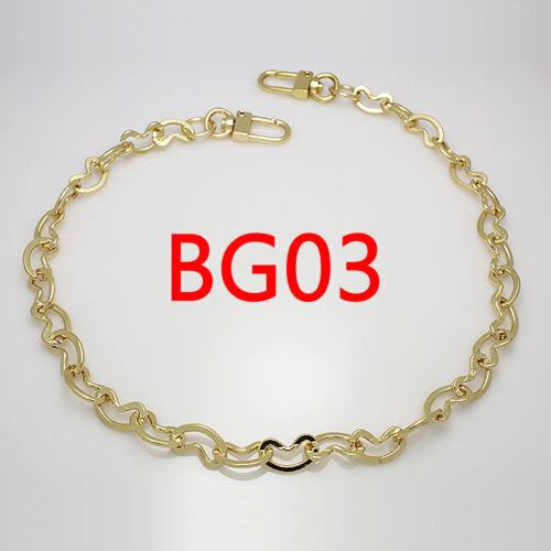 BG03 Sac à main chaîne en métal Bracelet de remplacement or Bandoulière Sangle D/'épaule Sac à main