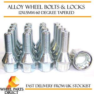 Wheel Bolts & Locks (12+4) 12x1.5 Nuts for Vauxhall Tigra TwinTop 04-09