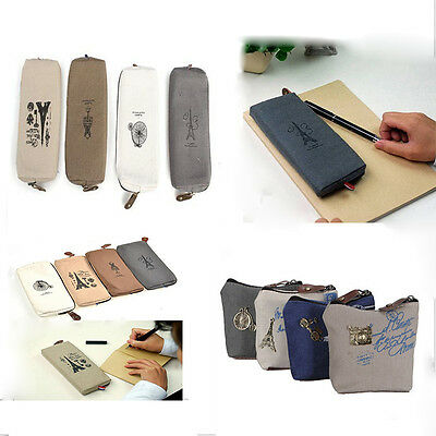 Lady  Coin Bag Purse Wallet Card Pen Pencil Case Classic Pouch Handbag B7