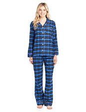 d99576ea27611 DKNY Plus Size Blue Flannel Plaid BOYFRIEND Sleepshirt 3x