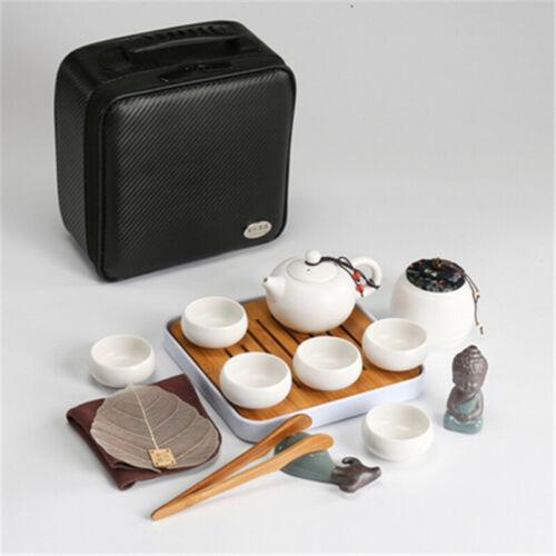 Retro Chinese Style Portable Travel Kungfu Tea Set Handmade Ceramic Teapot Cups
